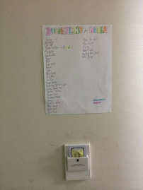 Our bucket list!